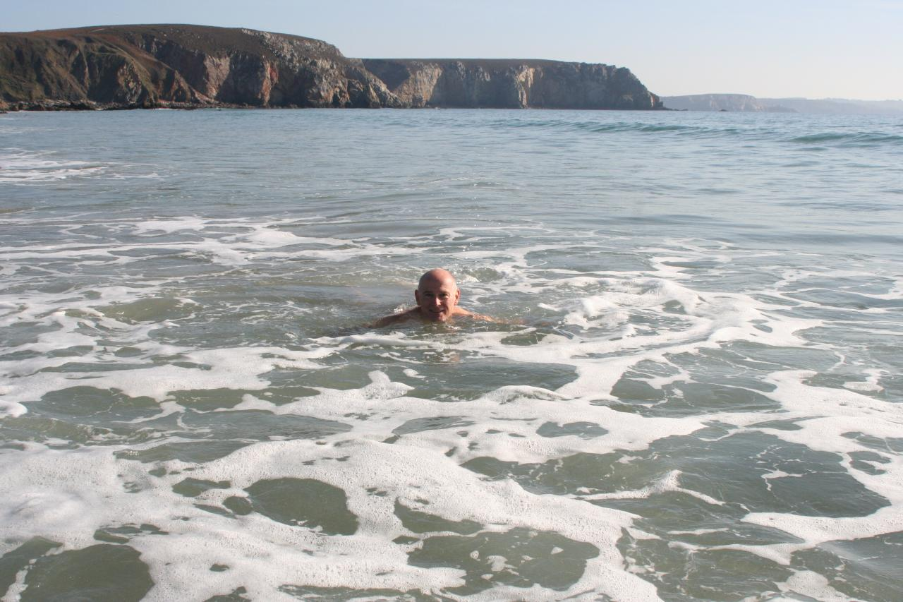 Petit bain à Veryac'h