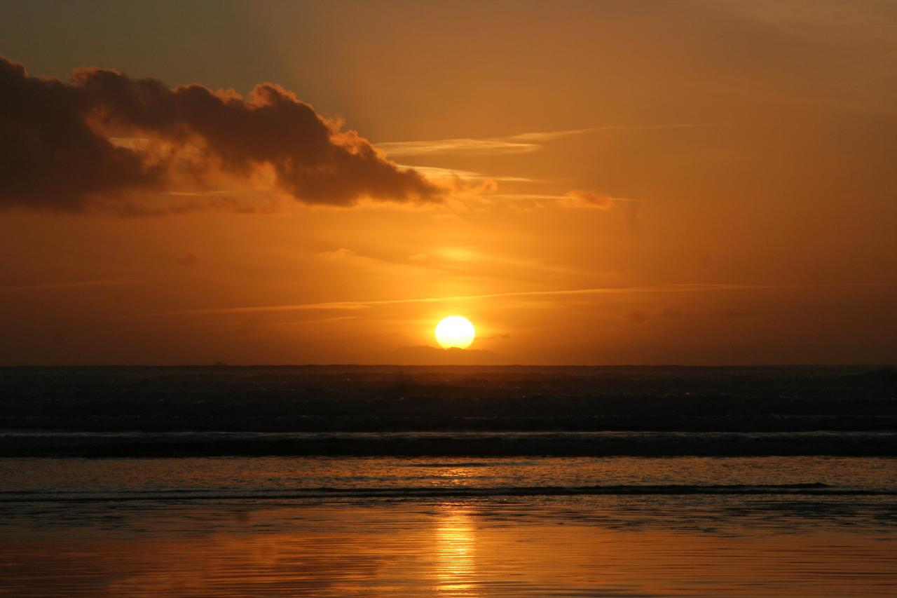 Soleil du soir à Goulien