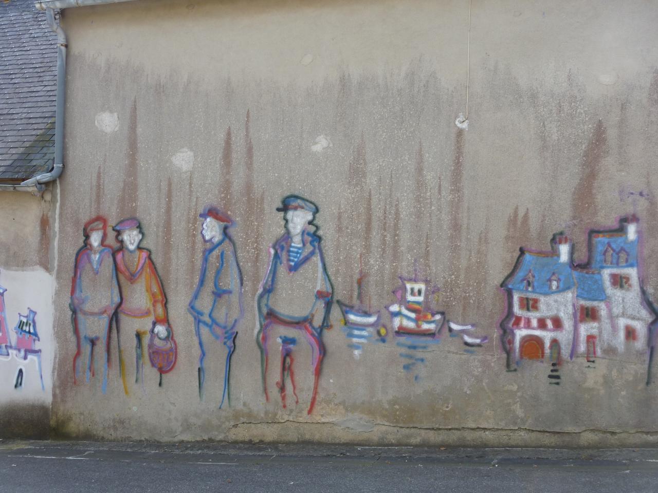 mur peint camaret